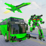 Army Bus Robot Transform Wars – Air jet robot game 3.4 (MOD, Unlimited Money)