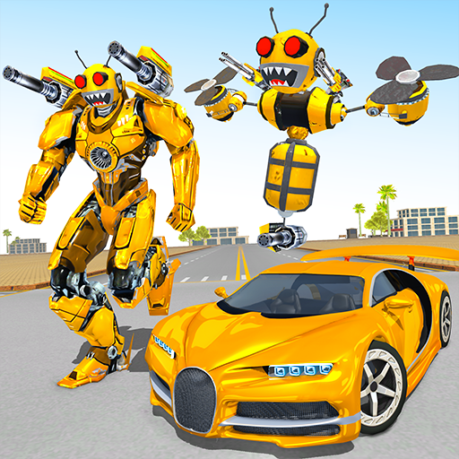 Bee Robot Car Transformation Game: Robot Car Games 1.32 (MOD, Unlimited Money)