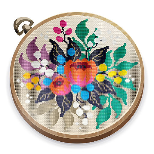 Cross Stitch Club — Color by Numbers with a Hoop 1.4.34 (MOD, Unlimited Money)