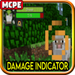 Damage Indicator Mod for Minecraft PE 1.8 (MOD, Unlimited Money)