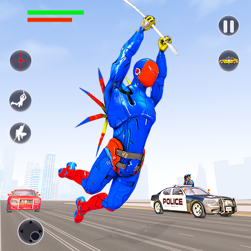Flying Robot Rope Hero – Vegas Crime City Gangster 3.5(MOD, Unlimited Money)