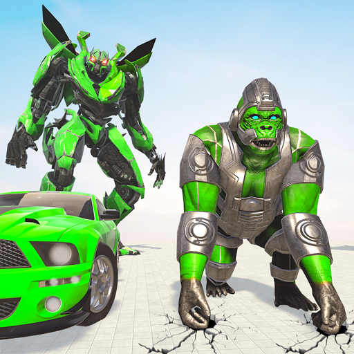 Gorilla Robot Car Games- Transform War Robot Games 3.0 (MOD, Unlimited Money)
