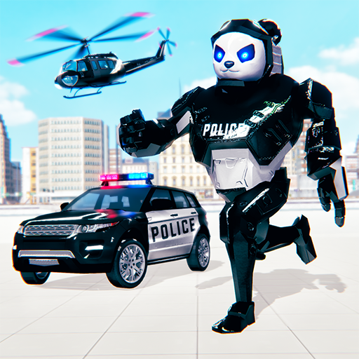 Police Panda Robot Car Transform: Flying Car Games2.0.1 1.8 (MOD, Unlimited Money)