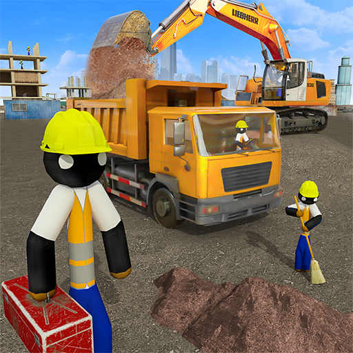 Stickman City Construction Excavator 2.8 (MOD, Unlimited Money)