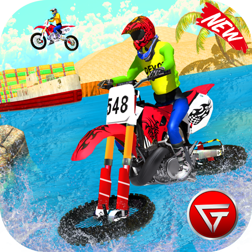 Beach Water Surfer Dirt Bike: Xtreme Racing Games 1.0.5 (MOD, Unlimited Money)
