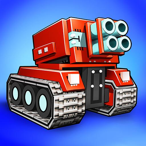 Blocky Cars – pixel shooter, tank wars  (MOD, Unlimited Money)