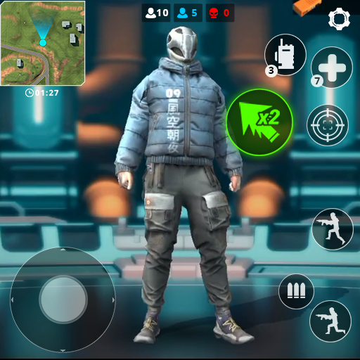 Cyber Fire: Free Battle Royale & Shooting games 2.4.1 (MOD, Unlimited Money)