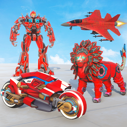 Lion Robot Transform War : Light Bike Robot Games 1.7 (MOD, Unlimited Money)