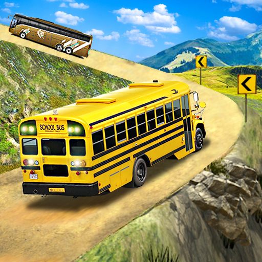 Offroad School Bus Driving: Flying Bus Games 2020 1.43 (MOD, Unlimited Money)