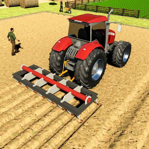 Real Tractor Driving Games- Tractor Games  (MOD, Unlimited Money)