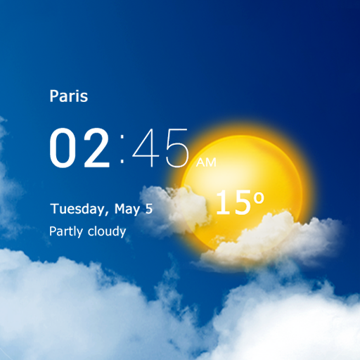 Transparent clock and weather – forecast and radar  (MOD, Unlimited Money)