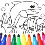 Dolphin and fish coloring book  (MOD, Unlimited  Money) 15.9.6
