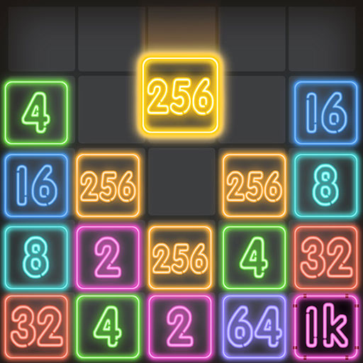 Drop Number : Neon 2048 1.0 (MOD, Unlimited Money)