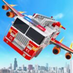 Flying Firefighter Truck Transform Robot Games  (MOD, Unlimited Money) 31