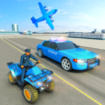 USA Police Car Transporter Games: Airplane Games  (MOD, Unlimited Money) 1.2