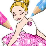 Ballerina Coloring Book Glitter – Girl Games 1.0.4.1 (MOD, Unlimited Money)