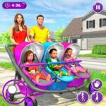 New Mother Baby Triplets Family Simulator 1.1.9 (MOD, Unlimited Money)