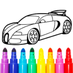 Learn Coloring & Drawing Car Games for Kids 9.0 (MOD, Unlimited Money)