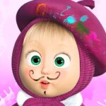 Masha and the Bear: Free Coloring Pages for Kids 1.7.6 (MOD, Unlimited Money)