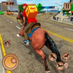 Mounted Horse Riding Pizza Guy: Food Delivery Game 1.0.5 (MOD, Unlimited Money)