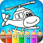 Coloring pages for children : transport 1.0.14 (MOD, Unlimited Money)