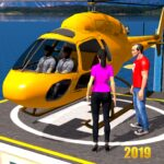 Helicopter Taxi Tourist Transport  (MOD, Unlimited Money)