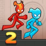 Fire and Water Stickman 2 : The Temple  (MOD, Unlimited Money) 0.3.4