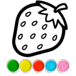 Fruits and Vegetables Coloring Game for Kids  (MOD, Unlimited Money) 1.1